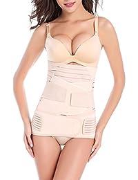 SANCOMO Fascia Post Parto Recupero 3 in 1 Pancia/Vita/Pelvi Supporto Cintura Traspirante Elastica per Donna e maternità