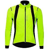 DHERA Veste de Cyclisme imperm/éable et Respirante imperm/éable Haute visibilit/é et l/ég/ère pour Hommes