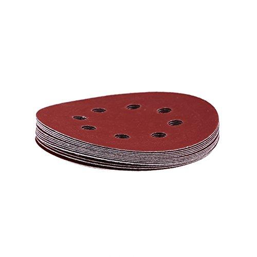 10 stücke 125mm Schleifscheiben Runde Form Rot Schleifpapier Polierscheibe 8 Loch 60 80 100 120 150 180 240 320 800 1000 Grit(1000#)
