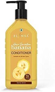 Elansa Hair Sensation Banana Conditioner - No Parabens, Color, Mineral Oil and Silicones, 300 ml