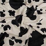 StoffHandwerker Fellstoff Kuh schwarz - 147 cm breit - Meterware