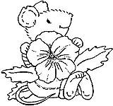 Art Stamps Stempel Stiefmütterchen Maus