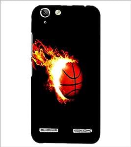 PrintDhaba Ball on Fire D-1227 Back Case Cover for LENOVO VIBE K5 (Multi-Coloured)