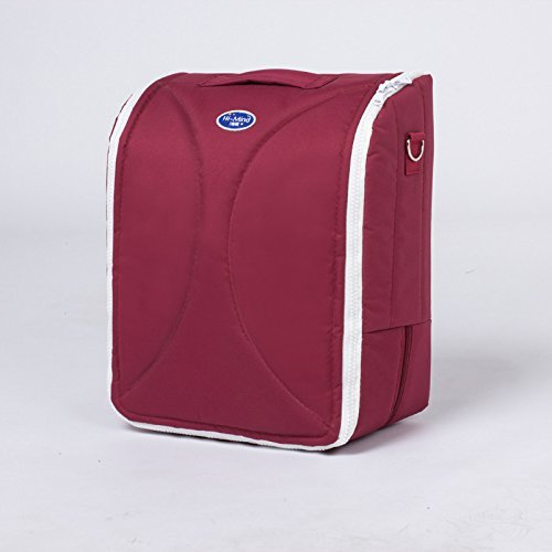 Okayji Portable Folding Baby Bed 2 in 1 Crib Bassinet Nursery Bed Diaper Bag Baby Infant Travel Foldable Dipper Bag,1- Pieces (Maroon)
