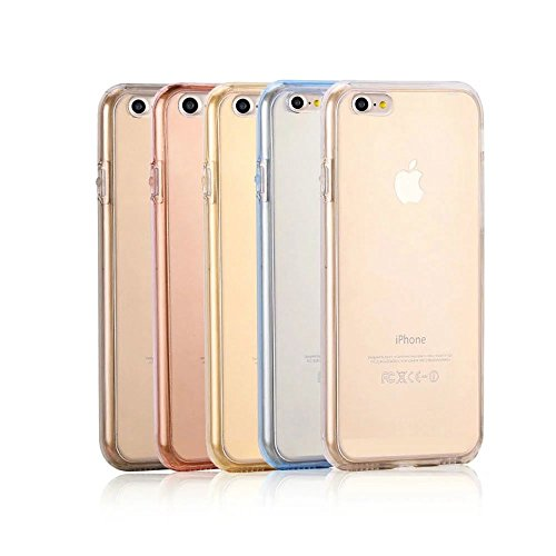 MOMDAD Transparent Coque pour IPhone 7 TPU Silicone Etui IPhone 7 4.7 Pouces Coque de Protection en TPU avec Absorption de Choc Bumper et Anti-Scratch Hull Couverture IPhone 7 Soft TPU H
