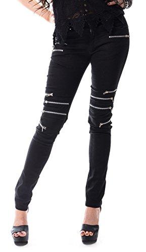 Vixxsin -  Pantaloni  - Basic - Donna nero XS