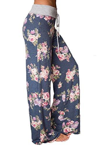 Helana's Secret -  Pantaloni  - Donna Grey Roses