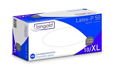 Einweghandschuhe Latex-P 50 weiß, gepudert, Größe XL, 10x100-er Pack