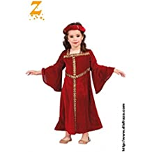 Disfraz de chica medieval granate (4-6 años)