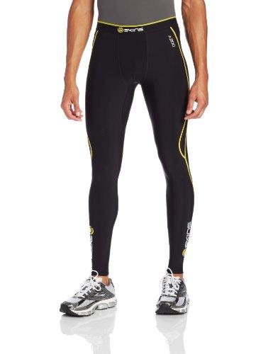 Skins Herren A200 Thermal Mens Long Tights, Black/Yellow, M, B60052111M