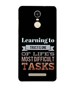 Fuson Designer Back Case Cover for Xiaomi Redmi Note 3 :: Xiaomi Redmi Note 3 Pro :: Xiaomi Redmi Note 3 MediaTek (Learning to Trust Difficult Task)