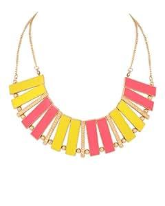 Voylla Necklace With Geometric Design; Golden Chain