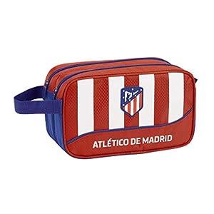 Club Atlético de Madrid Atlético de Madrid Club de fútbol Neceser, Bolsa de Aseo Adaptable a Carro. Accesorio de Viaje, Niños, Roja, 26 cm