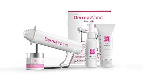 DermaWand definitivo sistema antienvejecimiento (enchufe británico)–Incluye 3productos de cuidado de la piel ¡Para reducir las arrugas!