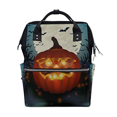 Happy Halloween Gelb Kürbis Große Kapazität Windel Taschen Mummy Rucksack Multi Funktionen Wickeltasche Tote Handtasche Für Kinder Baby Care Travel Täglichen Frauen