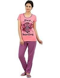 New Darling Womens Strawberry Pink Top & Pyjama Set