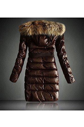 Les Femmes L'hiver Chaud À Midi Fausse Fourrure Occasionnels Pour Épaissir Les Parkas brown