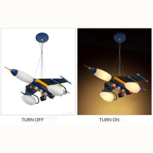 Guo Kinderzimmer-Lichter Jungen-Raum-Flugzeug-Lichter Kronleuchter-Pers5onlichkeit-kreative Karikatur-Beleuchtungs-Lampen E14 Lampen-Hafen - 5