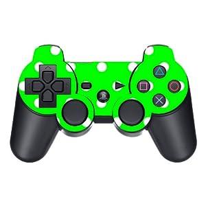 Disagu Design Skin für Sony PS3 Controller – Motiv Grün Weiß gepunktet