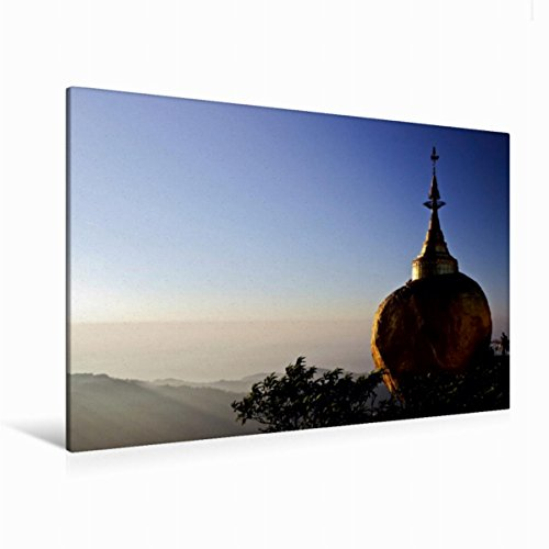 Premium Textil-Leinwand 120 cm x 80 cm quer Ein Motiv aus dem Kalender Amazing Myanmar | Wandbild, Bild auf Keilrahmen, Fertigbild auf echter Leinwand, Leinwanddruck (CALVENDO Orte) (Rock Mandalay)