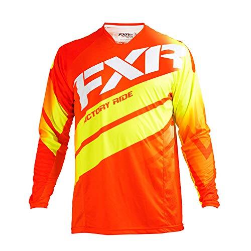 FXR Racing Mission 18 Herren MX Motocross Gelände Jersey - Rot/Hoch Sichtbar/Weiß - Rot, Hoch Sichtbar, Weiß, XL Fxr Racing