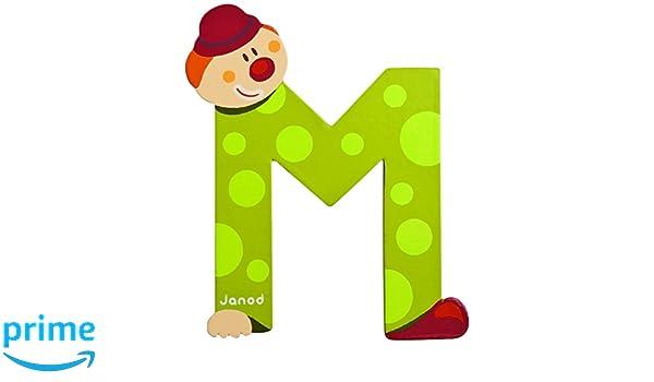J04554 M Clown Letter Janod