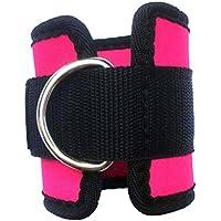 WINOMO 2pcs gimnasio de deporte tobillo correa para Cable máquinas para glúteos y piernas ejercicios de pesas (Rose rojo)