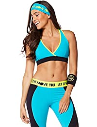 Zumba Fitness Keep On Glowing réversible V Bra–T-shirt sans manches pour femme