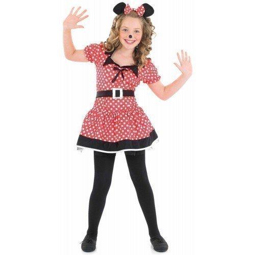 Kinder-Kostüm 'Missy Minnie Maus - Disney' für Mädchen - Faschingskostüm, Rot/Schwarz, EU (Maus Missy Kostüme)