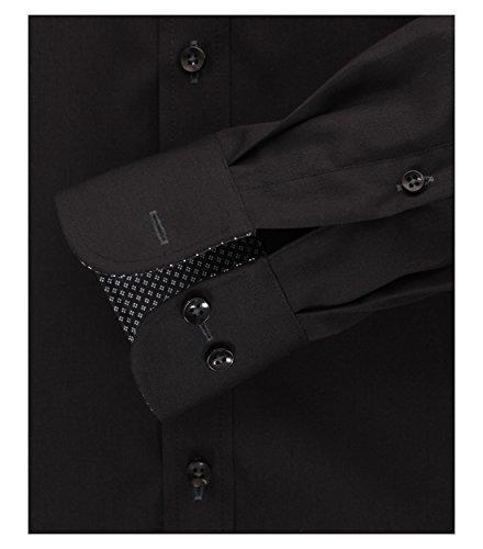 Casa Moda - Modern Fit - Herren langarm Hemd mit Kent Kragen in verschiedenene Farben (372682400) Schwarz (800)