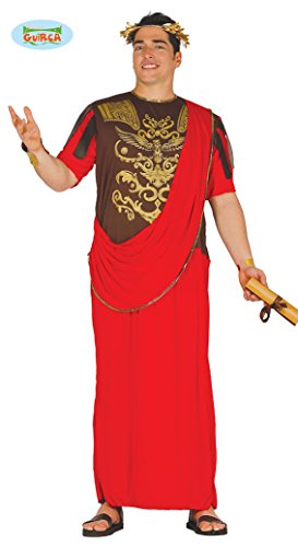 Krieger Kostüm Herren - Römischer Senator Herrenkostüm rot Römer Herren Krieger Held Kostüm Gr. M-XL, Größe:XL