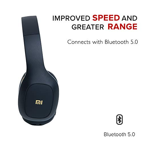 Mi Super Bass Wireless Headphones with Super Powerful bass, up to 20hrs Battery Life, Bluetooth 5.0 (Black and Gold) Image 4