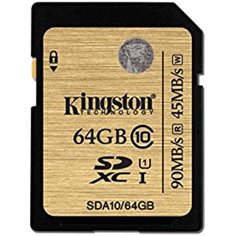 Kingston SDA10/64GB - Tarjeta SD profesional de 64 GB (UHS-I SDHC/SDXC clase 10)