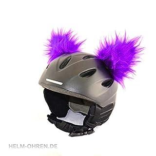 Helm-Ohren für den Skihelm, Snowboardhelm, Kinder-Helm, KinderSkihelm, Motorradhelm oder Fahrradhelm - Helmdeko für Kinder und Erwachsene (Ohren: Lila)