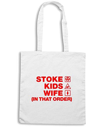 T-Shirtshock - Borsa Shopping WC1077 stoke-kids-wife-order-tshirt design Bianco