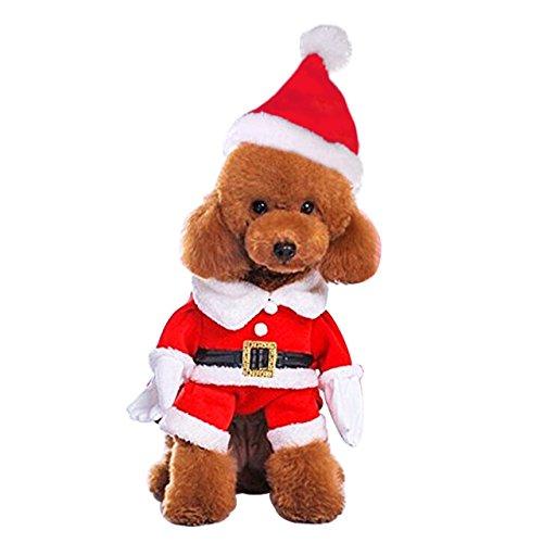 Mogoko Hund Katze Weihnachten Santa Claus Kostüm, Pet Rentier Cosplay Kostüme, Hoodie, Puppy Fleece Warm Outfit Apparel Festival (Für Erwachsene Rentier Kostüm Hoodie)