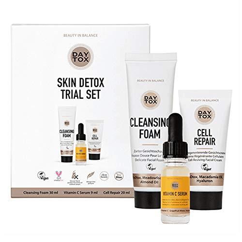 DAYTOX - Skin Detox Trial Set - Kennenlern-Set für tägliche Detox-Pflege - Vegan, ohne Farbstoffe, silikonfrei und parabenfrei - 59 ml -