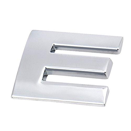 sunnymi ® 26 Buchstaben A-Z 3D DIY Metallic Alphabet Aufkleber Auto Emblem Brief Abzeichen, für Geburtstag Hochzeit Party Schlafzimmer Dekor (Silber 2,5x2,2x3mm, E)