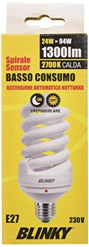 Blinky - Lampada a consumo basso, E27, Luce calda, 1300 lm, 220-240 V