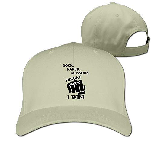 Throat Punch I Win Solid Travel Cap Baseball Cap Sport Hats for Men and Womens Virginia Punch