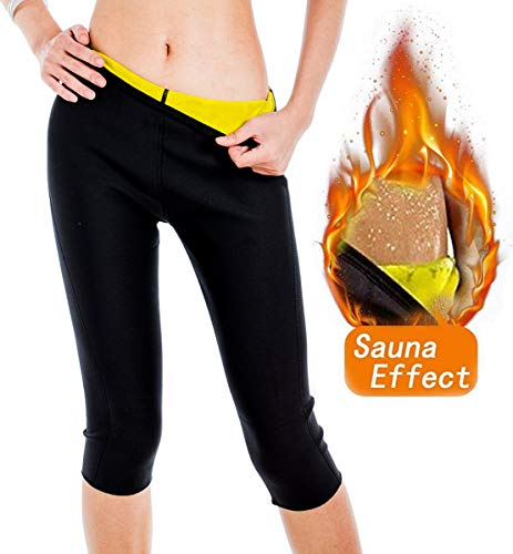 AFUT Damen Sweat Sauna Neopren Hot Capri Pants Body Shapers Slimming Gym Leggings Body Shapers Anti-Cellulite Shorts Thermo Fitness Weight Loss Yoga Sports Körperformung Hosen (Shaper Capri Body)
