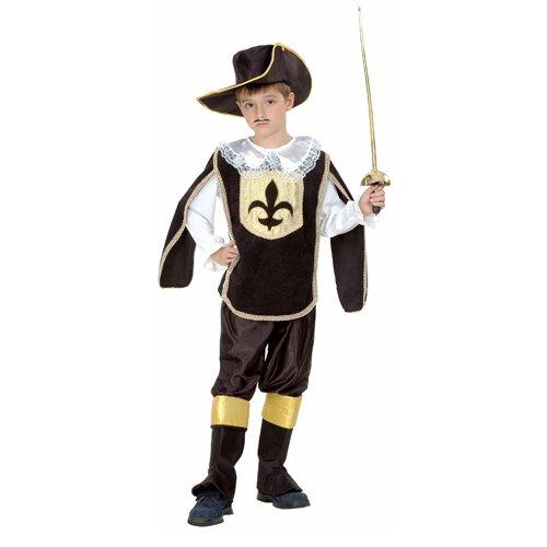 Mousquetaire Kostüm Luxe (Déguisement enfant luxe mousquetaire noir Taille)