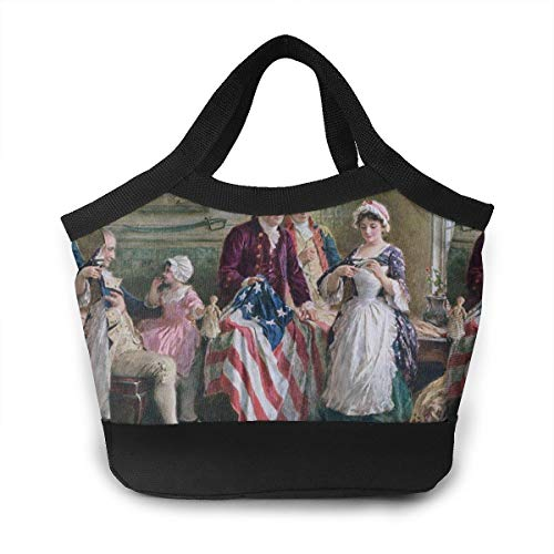 Betsy Ross Lunch Bag For Women Insulated Lunch Tote Bag Durable Lunch Bag Lunch Container -