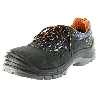Alba&n Sicherheitsschuhe grau S1P SRC Arbeitsschuhe atmungsaktiv Herren Damen C28SK Grey, Größe:39, Farbe:grau