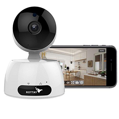 Telecamera di Sorveglianza IP camera wifi Rottay 960P HD wireless,Obiettivi Ruotabile, Audio Bidirezionale, Modalit¨¤ Notturna a Infrarossi, Controllo Remoto, Compatibile con iOS e Android e PC