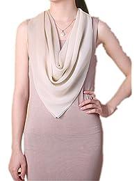 Prettystern - 90cm Foulard pour femmes pastel 100% soie châle écharpe avec dégradé de couleurs jeu - existe en 7 coloris différents