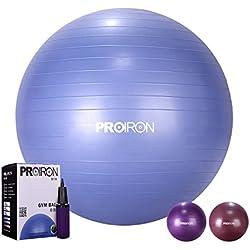 PROIRON Pelota de Ejercicio Anti-Burst Pelota Gimnasia para Yoga, Equilibrio, Fitness, Entrenamiento, Pilates, Crossfit incluidos Bomba 65cm 75cm