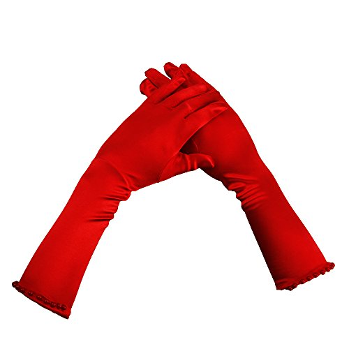 JIAHGUK Guantes - niña Rojo rosso Talla única
