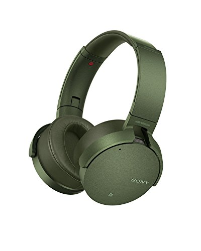 SONY-MDRX950NG GREEN SONY NOISE-CANCEL-XTRA BASS BLUETOOTH HEADPHONES