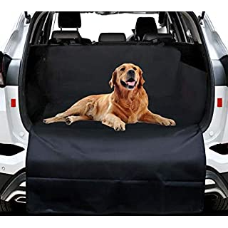 Namotu Nonslip Car Boot Cover Protector - Car Boot Liner Dog Seat for Dogs Waterproof & Scratch Proof & Water Resistant with Velcro Fixed Universal fits Most SUV and Vans Cover